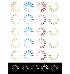 different preloader buffer shapes symbols vector image