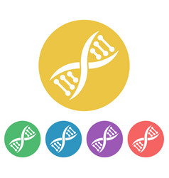 dna set of colored round icons vector image
