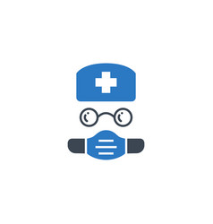 Doctor related glyph icon vector