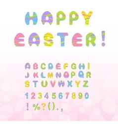 Easter font vector image