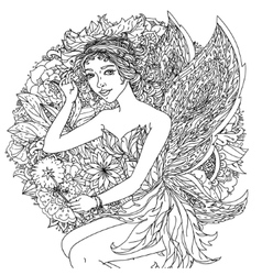 Fairy or elf vector