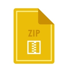 File ZIP icon flat style vector image