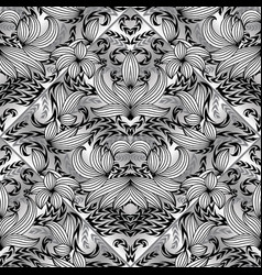 Floral paisley seamless pattern black and vector