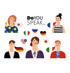 foreign language school persons vector image