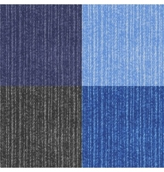 Four versions jeans texture vector