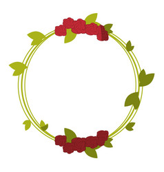 Frame with flowers icon vector