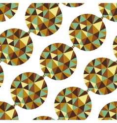 Geometric seamless pattern with gems vector image