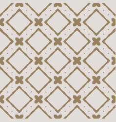 Geometrical pattern in monochrome taupe color vector