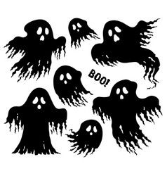 Ghosts thematic set 6 vector