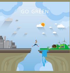 Go green conceptwith flat design vector