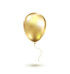 golden balloon vector image