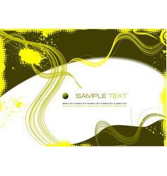Grunge abstract yellow background vector