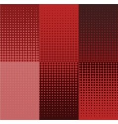 grunge red halftone banners set Dot vector image