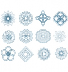 Guilloche elements vector