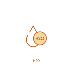 H2o concept 2 colored icon simple line element vector
