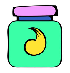Hair gel in a plastic container icon icon cartoon vector