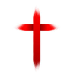 hand drawn christian cross vector image