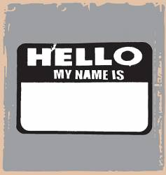 hello name tag vector image vector image