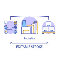 Industry concept icon industrial automation vector