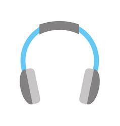 isolated headphones icon vector image