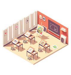 isometric school art classroom vector image