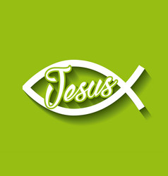 Jesus fish symbol vector