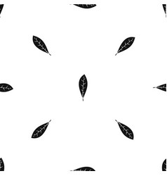 Leaf pattern seamless black vector