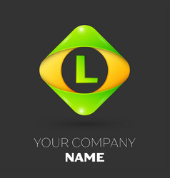 Letter l logo symbol in colorful rhombus vector