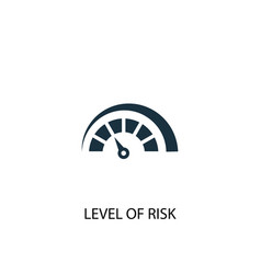 Level risk icon simple element vector