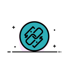Link chain url connection link business flat line vector
