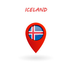 location icon for iceland flag eps file vector image