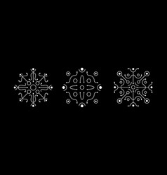 magic symmetric geometry white symbol set vector image
