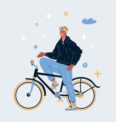 man on a bike vector image