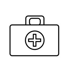 Medical aid kit emergency care vector