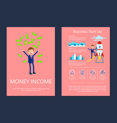money income and business vector image