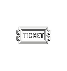 Movie ticket admit one admission pass vector