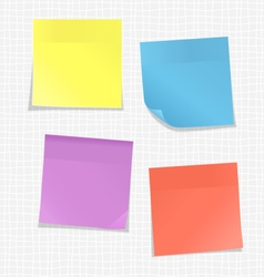 Multicolored stickers for note on white vector