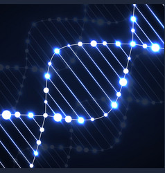 neon dna spiral abstract background vector image