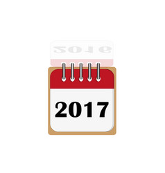 New year 2017 and old 2016 vector