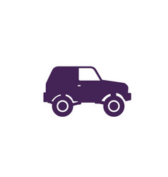 off-road car 4wd suv icon on white vector image