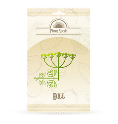 Pack of dill seeds icon vector