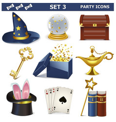 Party Icons Set 3 vector