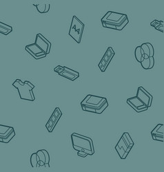 Polygraphy outline isometric pattern vector