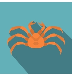 Raw crab icon flat style vector