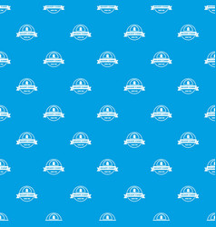 Ready camp pattern seamless blue vector