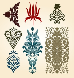 retro floral ornaments vector image