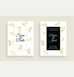 save date beautiful wedding card design vector image