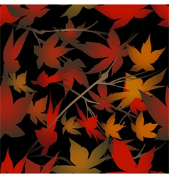 Seamless foliage pattern vector