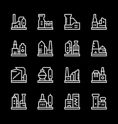 set line icons factory vector image