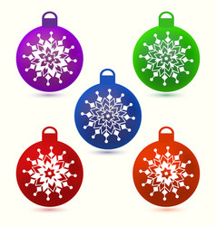 Set of christmas balls vector